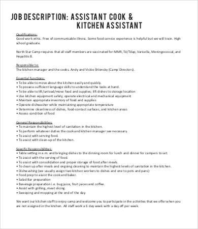 kitchen job description - Kitchen Design