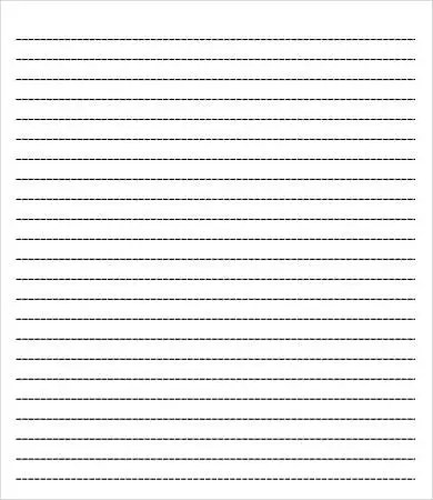 College Ruled Lined Paper Template  Free Download