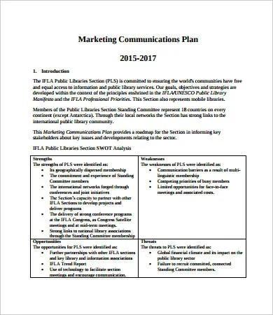 Marketing Plan Sample 20 Free PDF Word Documents Download Free Premium Templates