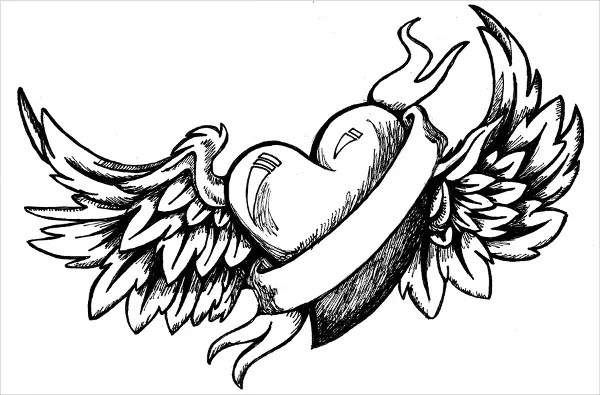 I Will Always Love You Ribbon Heart Coloring Pages