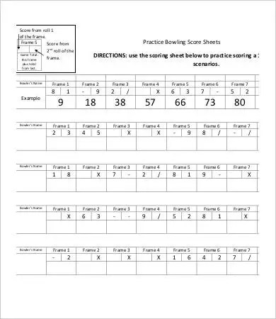 photo about Printable Bowling Score Sheet named bowling body template