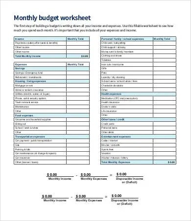 Budget Sheet Template 11 Free Word Excel PDF Documents Download Free Amp Premium Templates