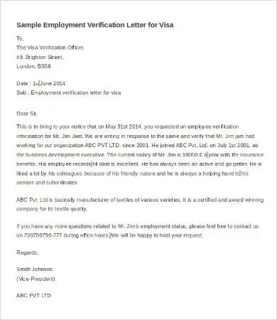 Notarized Employment Verification Letter  Docoments Ojazlink
