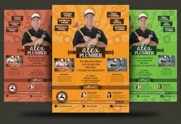 13 Beautiful Plumber Flyers Word PSD AI Free Amp Premium Templates