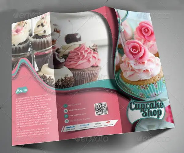 8 Bakery Brochures Printable PSD AI InDesign Vector