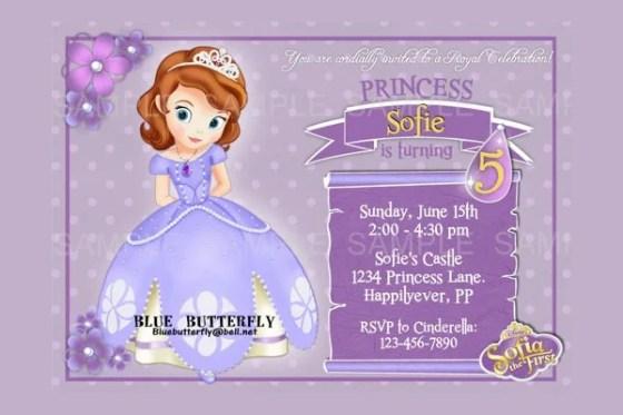 Disney Princess Invitation Templates Disney Princess - Birthday invitation template sofia the first