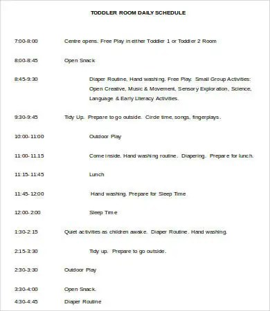Daily Schedule Template Word 9 Free Sample Example Format Free Amp Premium Templates