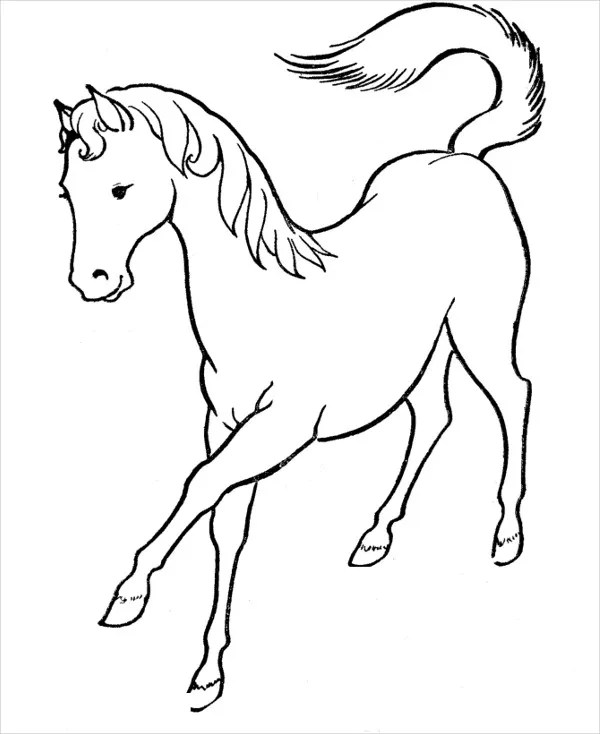 free printable horse coloring pages # 6