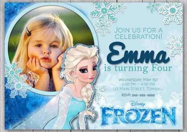 13 frozen invitation templates word