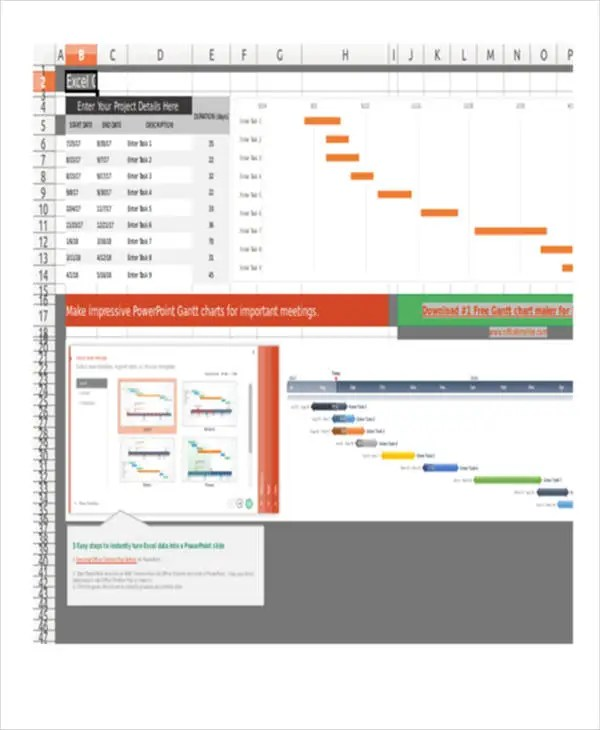 Share the gantt chart in excel with your project team to review and edit collaboratively. Gantt Chart Excel Templates Free Premium Templates