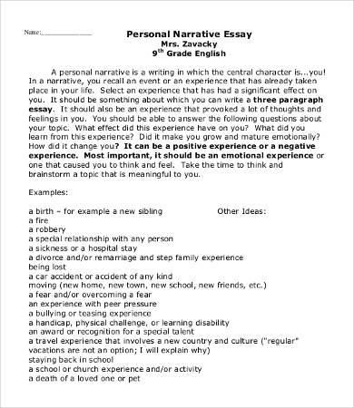 narrative essay help