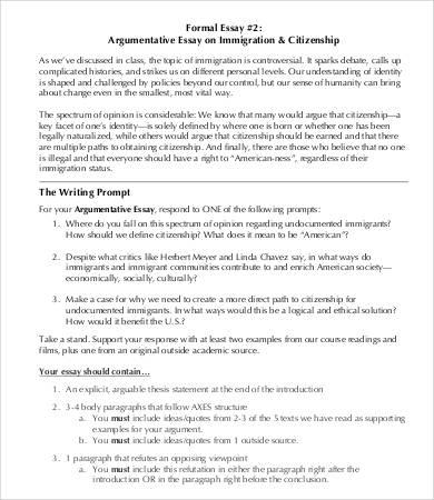 Sample Argumentative Essay. Sample Argumentative Argumentative ...