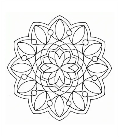 geometric coloring page # 15