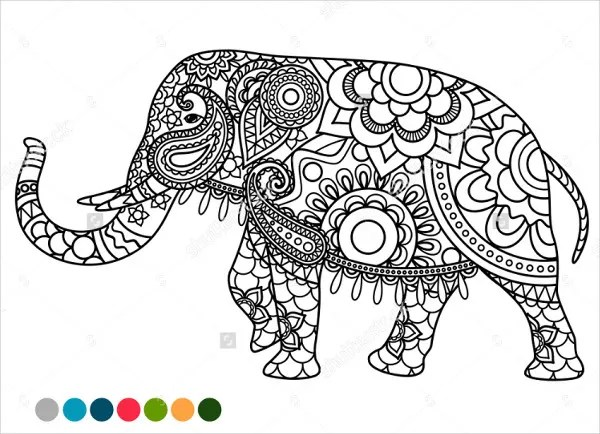 coloring pages elephant # 22
