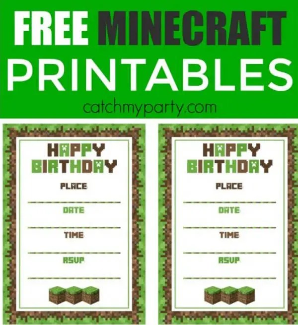 free minecraft printables psd png