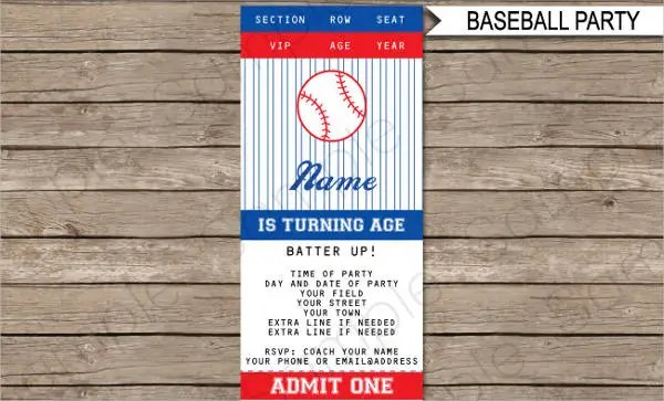 Baseball Ticket Template FREE DOWNLOAD The Best Home