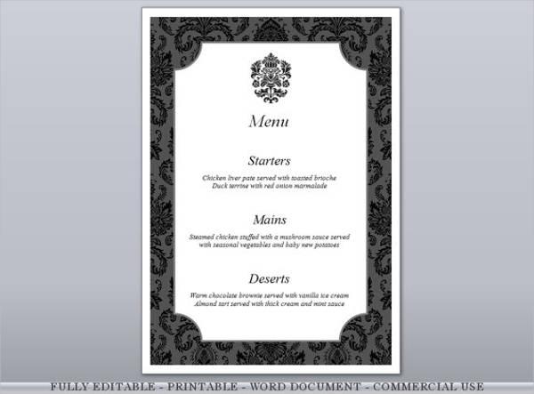 Formal Dinner Invitation Card Template