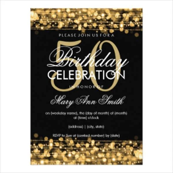Free 50th Birthday Invitation