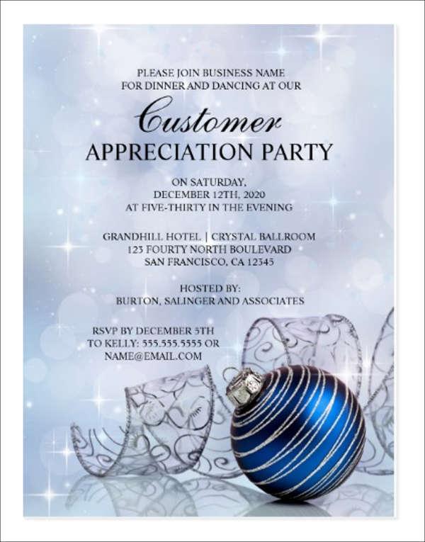 Customer Appreciation Dinner Invitation