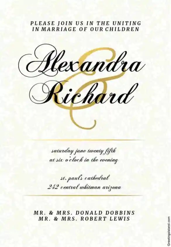 Dappled Distinction Printable Wedding Invitation Template