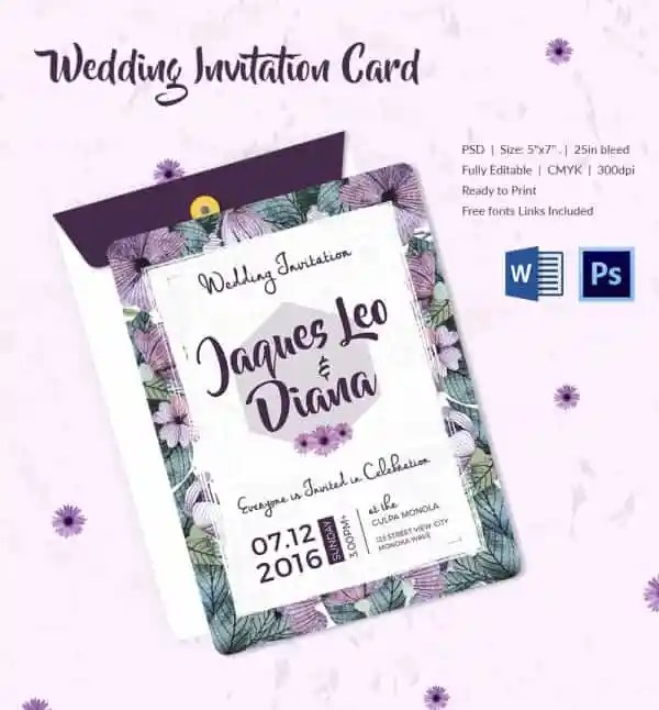 Astonishing How To Make Wedding Invitations On Microsoft Word 50 With Additional Free Invitation Samples