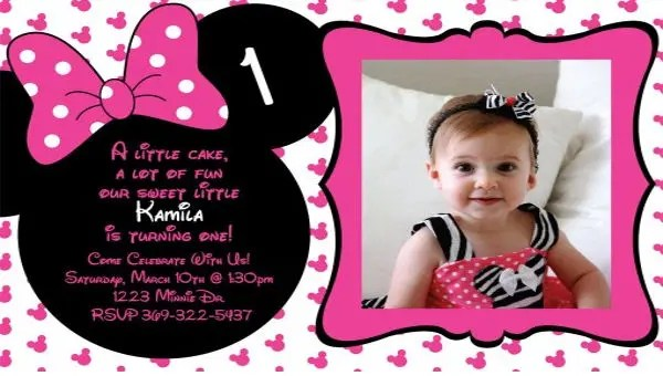20 minnie mouse birthday invitation