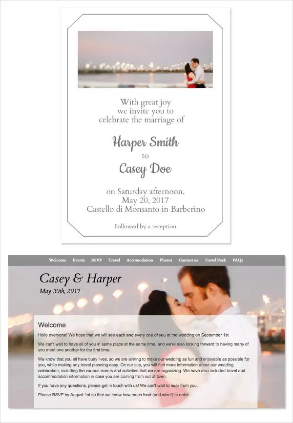 Formal Wedding Invitation Format