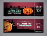 halloween ticket templates free
