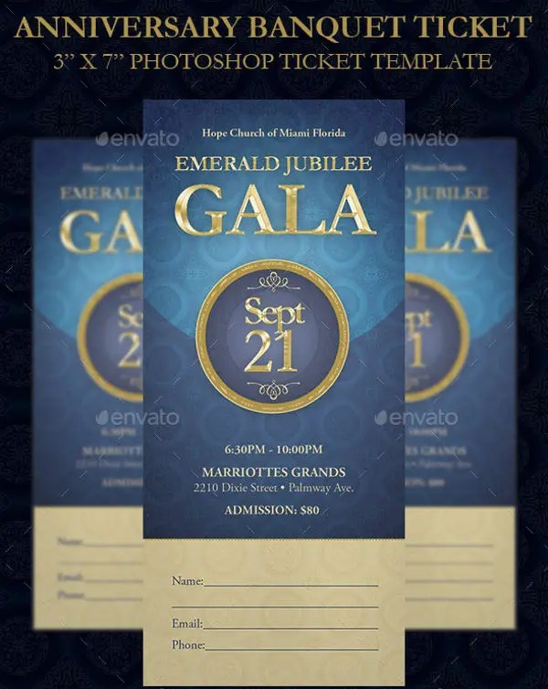 8 Banquet Ticket Templates Free PSD AI Vector EPS