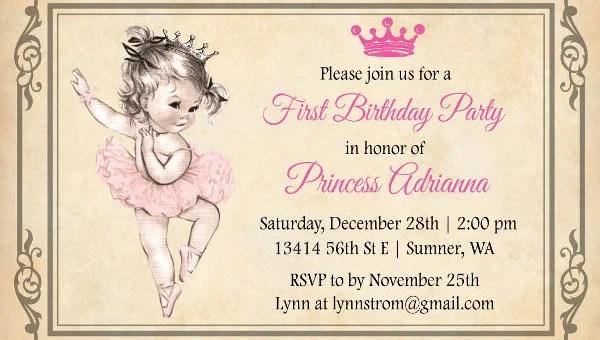 9 vintage birthday invitations jpg