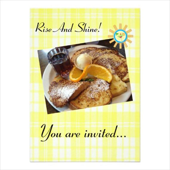 breakfast party invitations psd ai