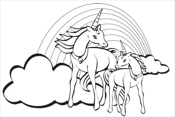 9+ Rainbow Coloring Pages - JPG, AI Illustrator Download ...   printable coloring pages unicorn rainbow