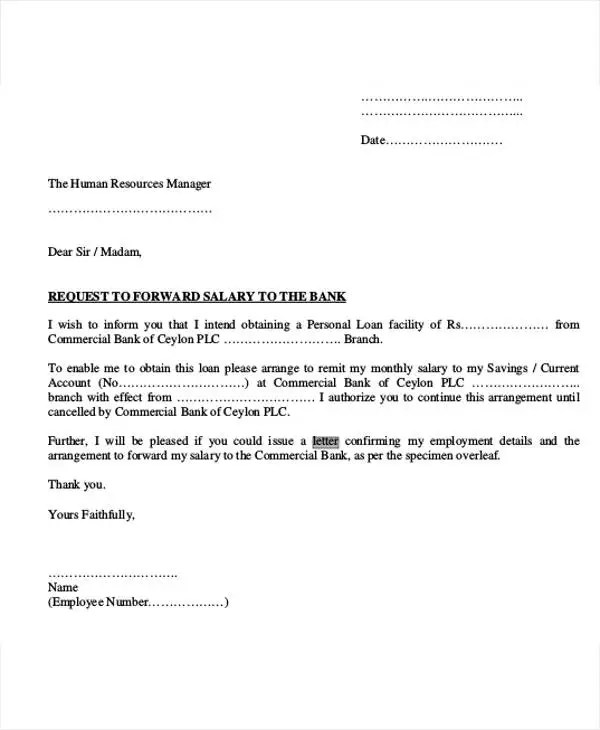 Sample Loan Repayment Letter Template
