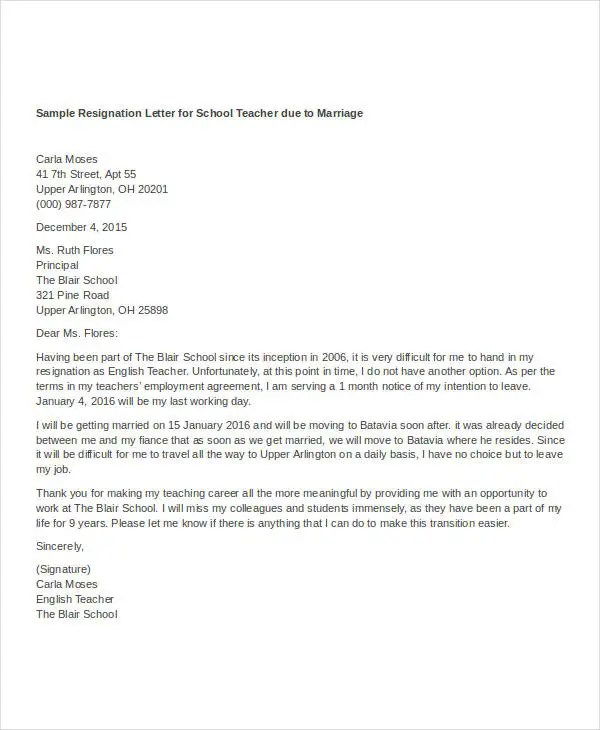 example of resignation letter with health reason docoments ojazlink