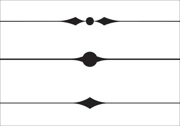 Black Simple Art Clip Corner Borders White And