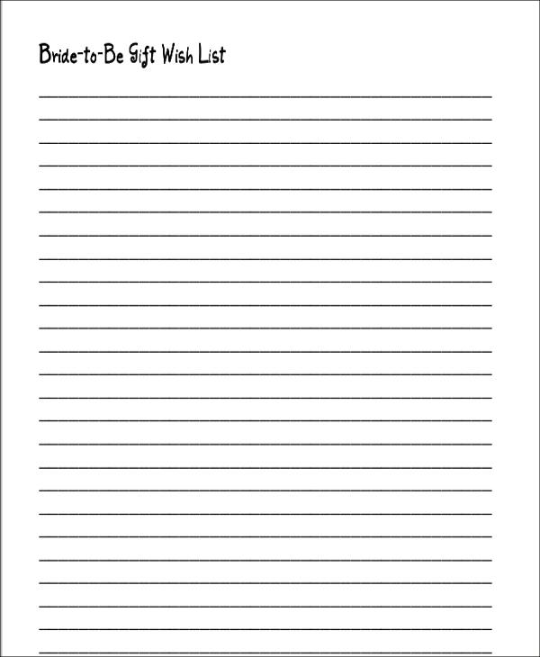 Wedding Gift List Templates 6 Free Word PDF Format Download Free Premium Templates