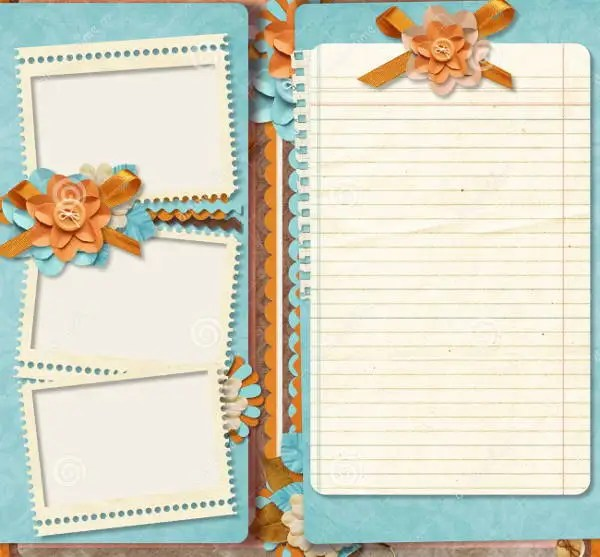 Baby Themed Scrapbook Paper With Border