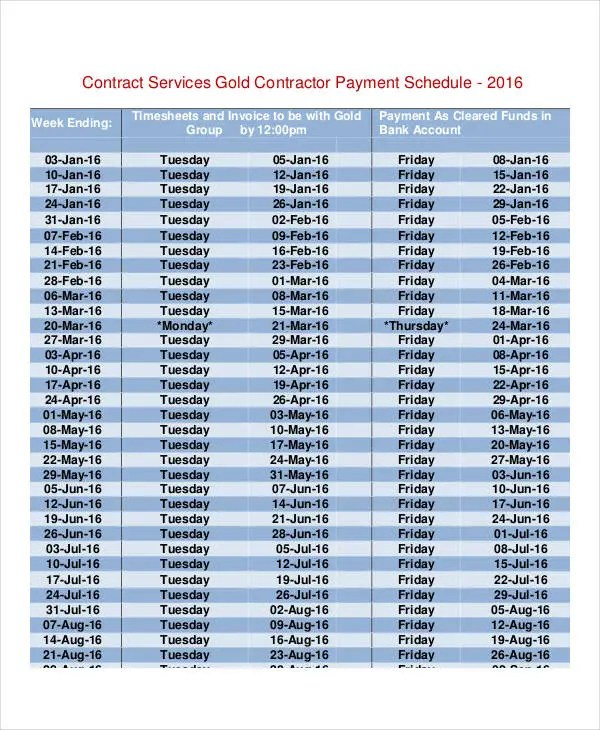 Contract Payment Schedule Template 11 Free Word PDF Format Download Free Amp Premium Templates