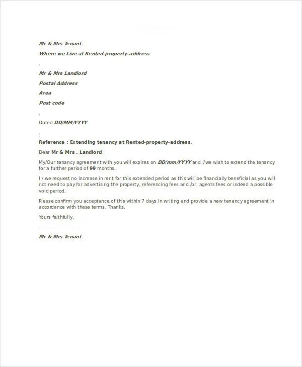 Agreement Letter Template 7 Free Sample Example