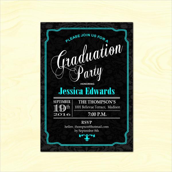 12 Graduation Party Invitation Designs Templates PSD AI Word Free Premium Templates