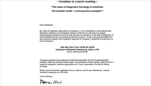 sample invitation letter for birthday