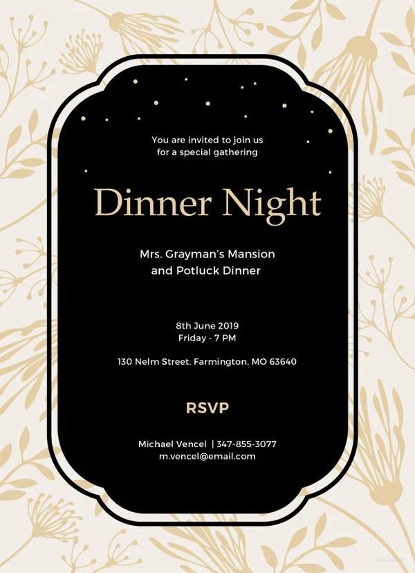 47 Dinner Invitation Templates PSD AI Free Amp Premium