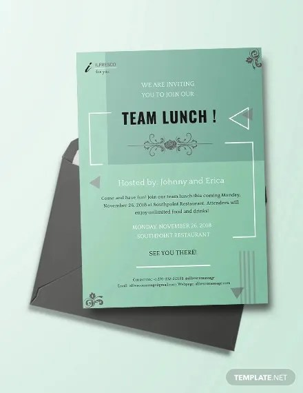 lunch invitation to colleagues