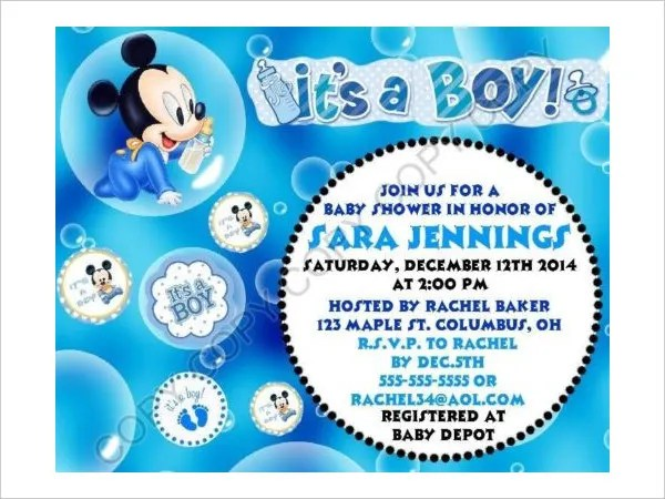 43 Printable Baby Shower Invitations Psd Ai Word Eps