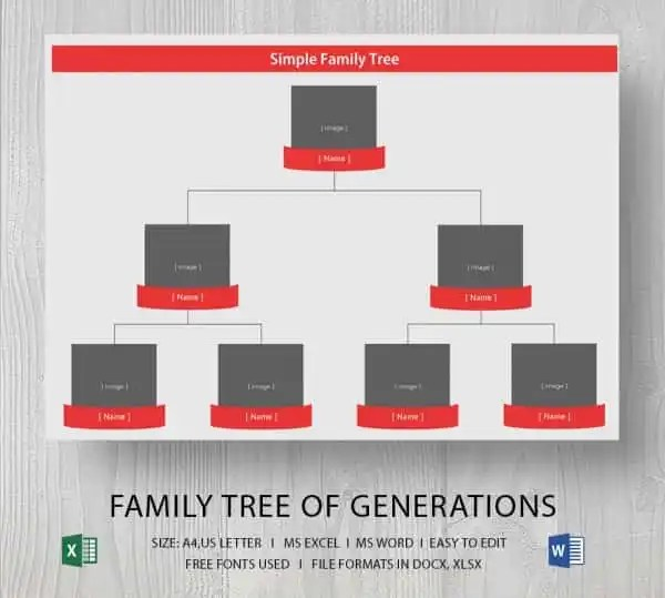 Simple Family Tree Template 25 Free Word Excel PDF Format Download Free Amp Premium Templates