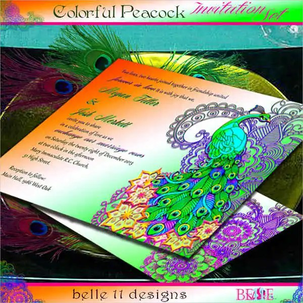 Wedding Invitation Format Which Can Be Used To Make Your Own Design 11