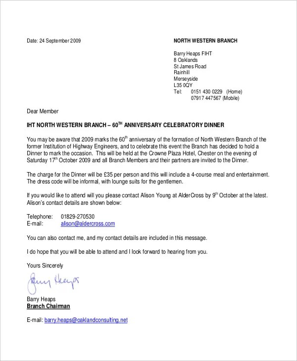 Formal Letter Sample Template 74