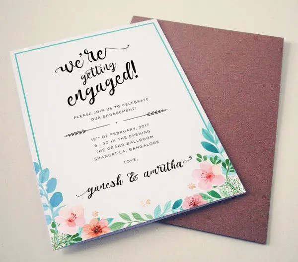 Engagement Invitation Card – Engagement Invite Templates