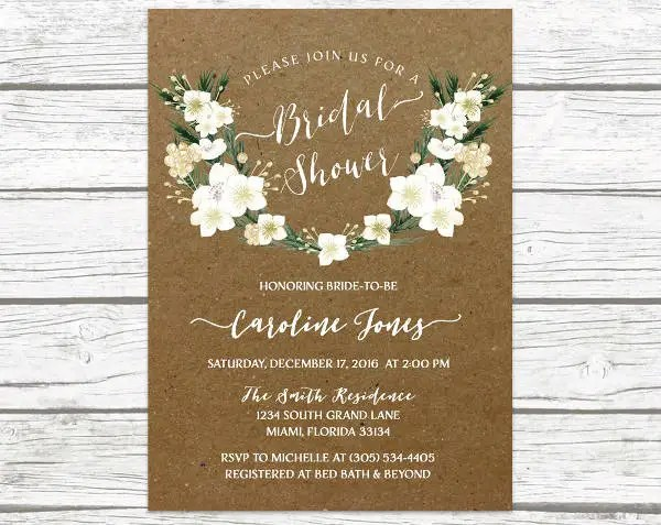 Our professional type stylists review and touch up your order for alignment and spacing for free before the order prints. Bridal Shower Invitations Personalized Bridal Shower Invitation Rustic Winter Tree Shower Invites Invitations Paper Party Supplies Deshpandefoundationindia Org