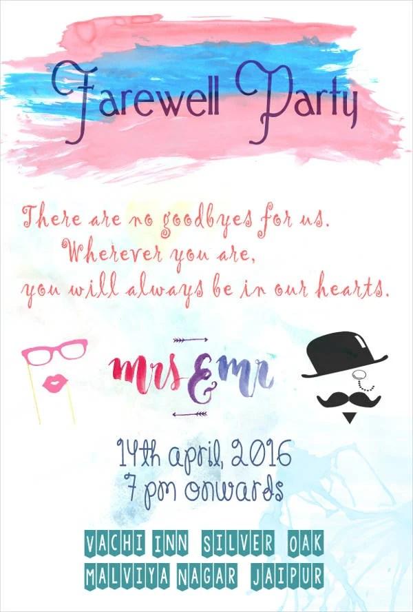 Farewell Party Invitation Cards   PaperInvite